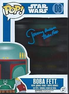 Star Wars Signed Autographed by Jeremy Bulloch as Boba Fett Funko Pop Vinyl Figure (Blue Version)