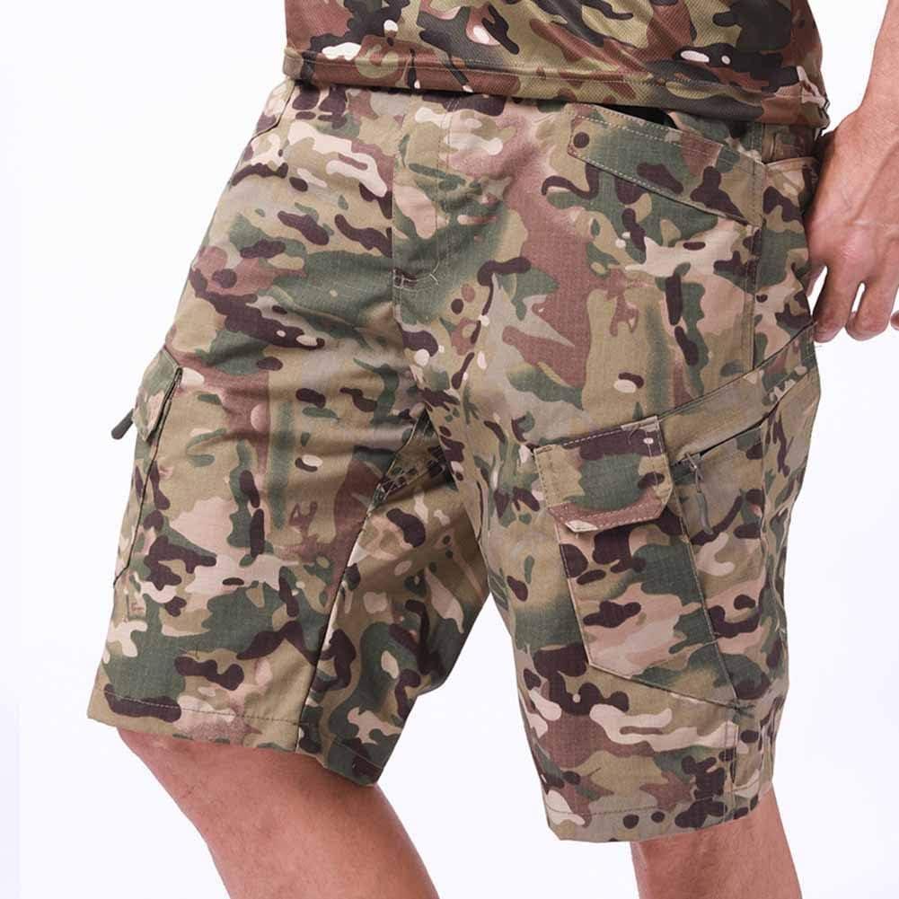 cintur/ón no Incluido Shorts Cargo para Hombre Shorts de Trabajo de Verano Lounge Multi-Bolsillos Shorts de Combate Casuales