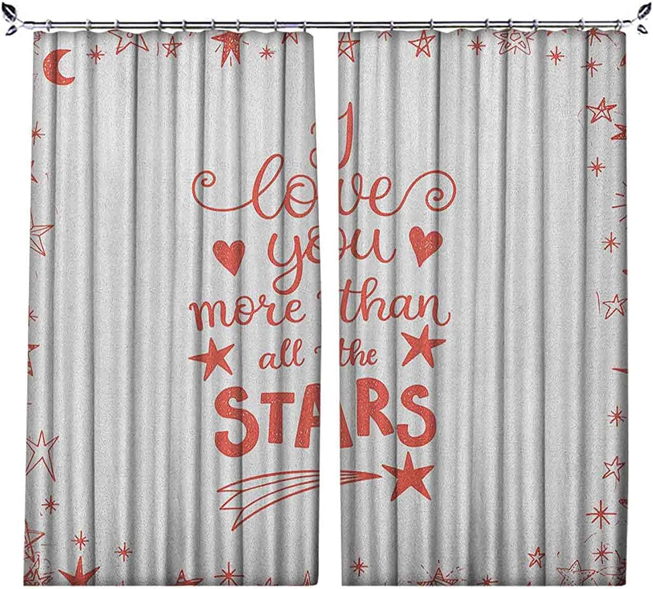 Pinch Pleat Spring new work Textured I OFFicial store Love You of More Curtains Quote Infatuat