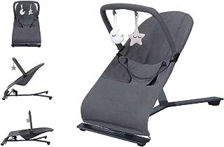 comprar comparacion Babify Hamaca de Bebé Serenity - Ajustable en 3 posiciones - Barra de Juguetes - Plegado Compacto - Color Gris Oscuro