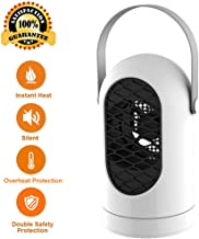 Acyon Portátil Calefactor Eléctrico, Mini Calentador de Ventilador, Personal Ventilador Calefactor Eléctrico PTC Cerámica, Oscilación Automática Calefactor Aire Frio y Caliente para Hogar Oficina