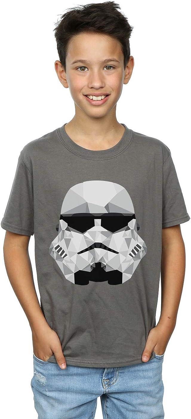STAR WARS Boys Stormtrooper Geometric Helmet T-Shirt 5-6 Years Charcoal