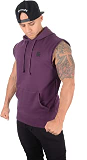 Men's Workout Bodybuilding Muscle Sleeveless Hoodies 510