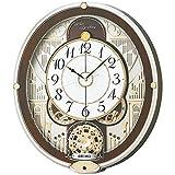 セイコー クロック 掛け時計 電波 アナログ からくり 6曲 メロディ 回転飾り 薄金色 パール RE577B SEIKO