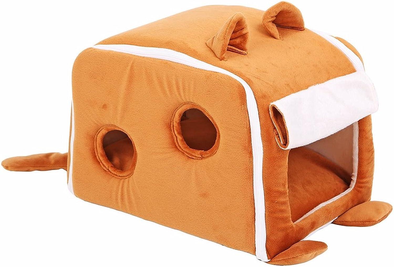 Pet Supplies Pet Cute Cute greenical Ears Pet Nest Cat House Nest Cat Cat Sleeping Bag ( Size   Small )