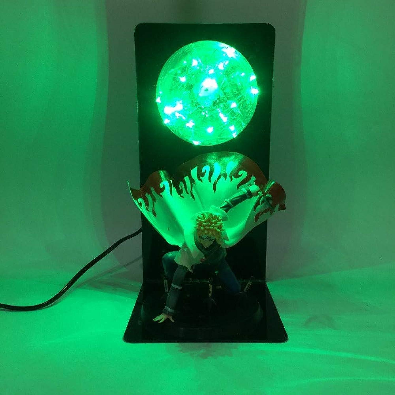 CXQ kreative Animation Naruto 4 Generationen von Feuer Schatten führte Augenlampe Ornamente Puppe Modell Tischlampe, grün