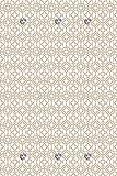 Queence - Perchero de pared (80 x 120 cm), diseño de círculos, color beige