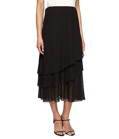 Alex Evenings Tea Length Dress Skirt (Petite Regular Plus Sizes)