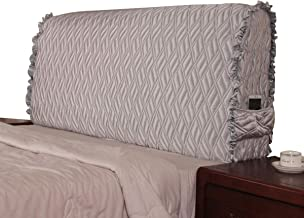 Bedside Protection Cover Stretch Bed Headboard Slipcover Furniture Protective Dustproof Cover for Beds for Bedroom Decor,M...
