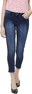 People Women's Slim Fit Jeans (P2D212SMU531219_Blue_28)