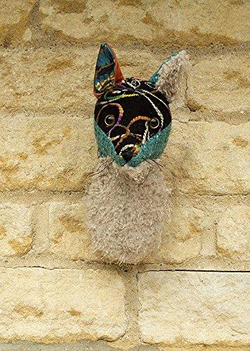 Trophy sammeltier bleu/motif tête de renard