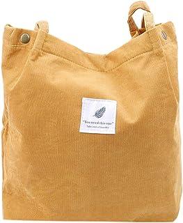 Sevenfly Cord Umhängetaschen Umwelt Einkaufstasche Tote Paket Crossbody Pouch Geldbörsen Casual Handtasche Für Frauen, Ingwer Gelb