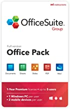 OfficeSuite Group Compatible with Microsoft® Office Word® Excel® & PowerPoint® and Adobe® PDF for PC Windows 10, 8.1, 8, 7...