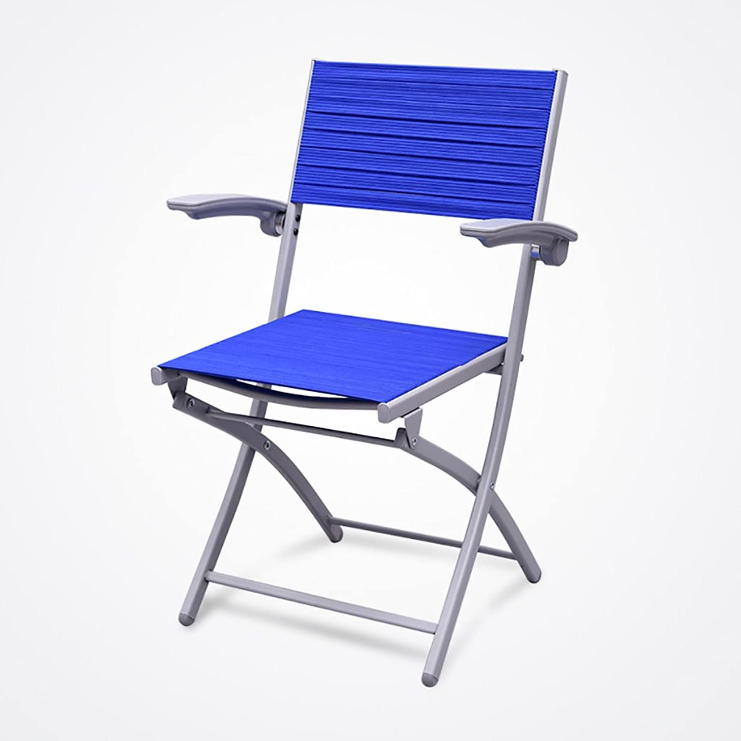 Chair Folding Chairs Chess Chairs Folding Backs Household Office Chairs Conference Chairs Training Chairs (color   bluee)