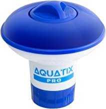 Aquatix Pro Pool Bromine Dispenser Offers Premium Floating Chlorine Dispenser for Indoor & Outdoor Swimming Pools, Up to 1