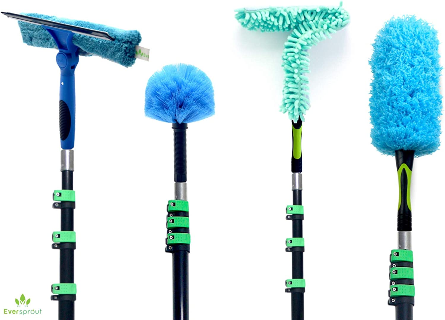 EVERSPROUT 7-to-26 Max 41% OFF Foot 4-Pack Duster Extensio Financial sales sale with Squeegee Kit