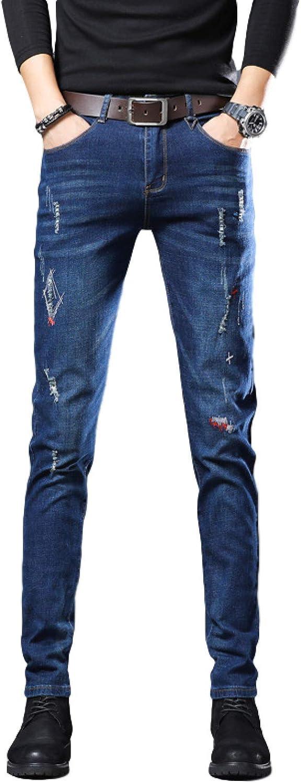 Wantess Men's Skinny Slim Fit Jeans Stretch R Max 71% OFF Denim Pants Indefinitely Pencil