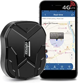 TKSTAR 4G GPS Tracker for Vehicles Hidden Magnetic Car GPS Tracker Waterproof Real-time Tracker Device with Anti-Theft Ala...