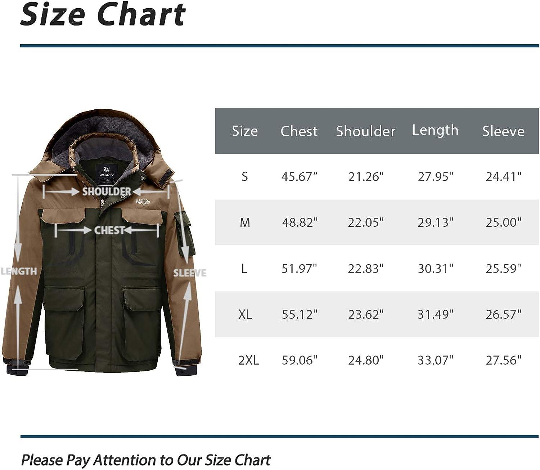 Wantdo Mens Mountain Hiking Jacket Outdoor Windproof Ski Jacket Water Resistant Windbreaker Jacket Hooded Warm Fleece Coat