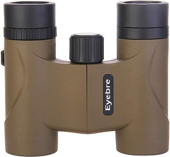 HOUYAZHAN Jumelles 10X22 HD - Télescope portatif d'observation de Vision Nocturne de Faible Niveau de lumière pour Une Utilisation en extérieur (Couleur   marron)