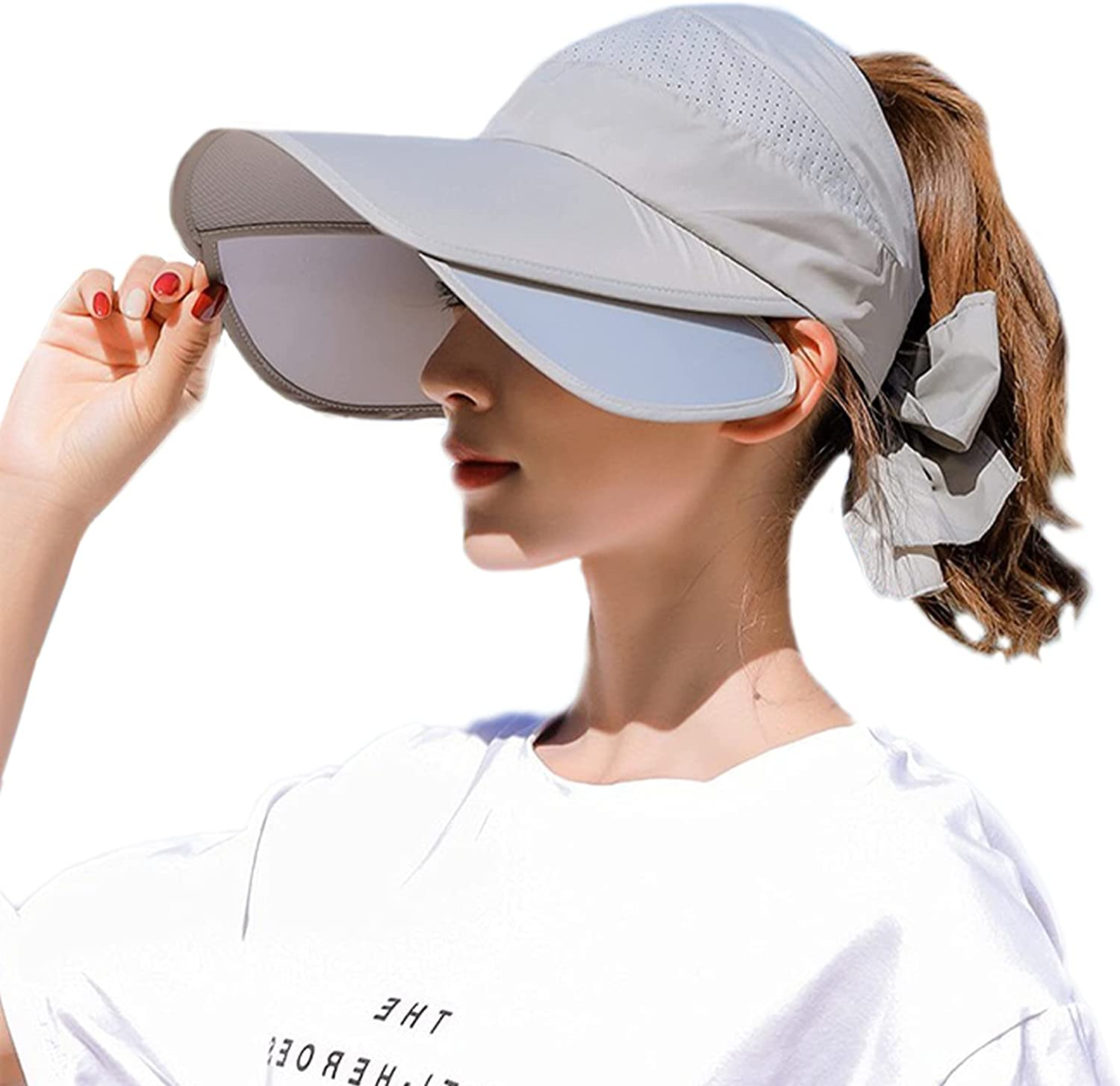 Peicees Wide Brim Inventory cleanup selling sale Visors for Store Women Sun Cap f Baseball Protection