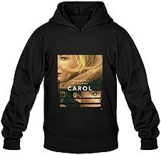 Men's Carol Film Movie Poster Hooded Sweatshirt Black