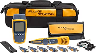 Fluke Networks MS2-KIT MicroScanner2 Copper Cable Verifier Kit, Troubleshoots RJ11, RJ45, Coax, Tests 10/100/1000Base-T, and VoiP, Includes IntelliTone Pro 200 & Remote ID Kit