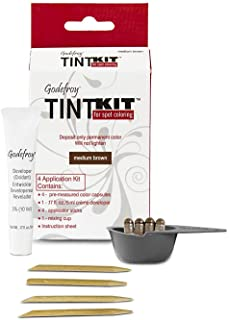 Godefroy Hair Color Kit for Spot Coloring, Covers Up Gray Hairs, Medium Brown, 4-Application Kit