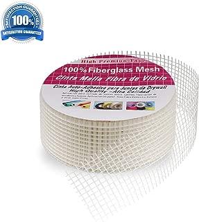 Uwecan High Strength Self-Adhesive Fiberglass Cloth Mesh Tape Fabric Roll, Board Seam Tape for Drywall Repair - 4.3