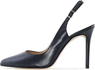 Women's Slingback Pumps High Heel Pointed Toe Ankle Strap Summer Dress Shoes