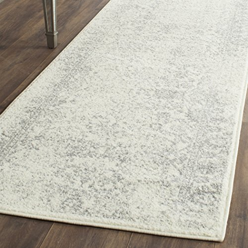 Safavieh Adirondack Collection ADR109C Ivory and Silver Oriental Vintage Distressed Runner (2'6' x 6')