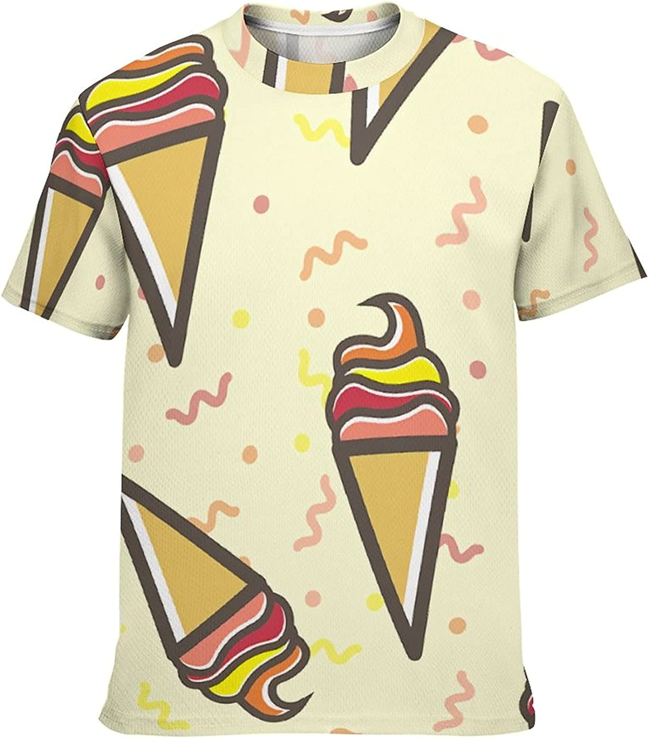 Short Sleeve Ice Cream Vector Pattern for Tu Ranking TOP10 Selling and selling Kawaii Shirts Kids