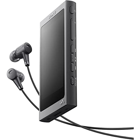ソニー ウォークマン Aシリーズ 32GB NW-A36HN : Bluetooth/microSD/ハイレゾ対応 ノイズキャンセリング機能搭載 ハイレゾ対応イヤホン付属 チャコールブラック NW-A36HN B