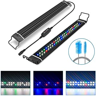 """Ticoze LED Aquarium Light, Fish Tank Light Dimmable Full Spectrum Aquarium Light with Timer Auto On/Off for Freshwater Planted 18-24""""- Aquarium Cleaning Brush Included"""