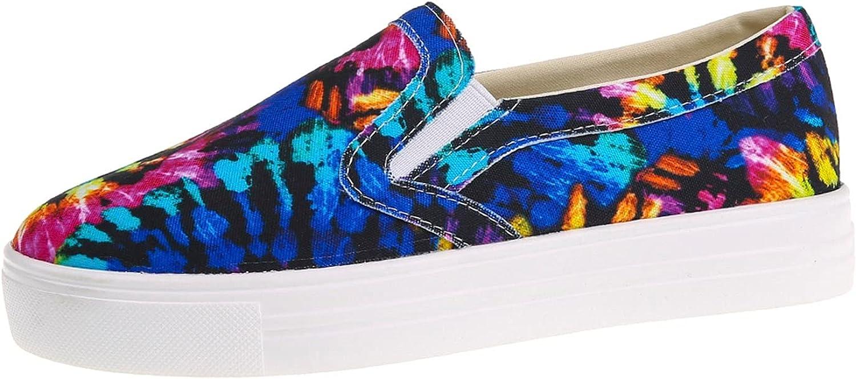 Women's Fashion Sneakers Athletic Slip on Fashion Shoes Work Slip Resistant Non Slip Womens Shoes Womens Walking Shoes White Canvas Sneakers for Women(A8-Blue, 6.5)