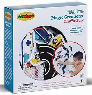 Edushape Magic Creations Bath Play Set, Traffic Fun