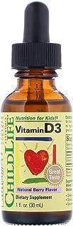 童年時光 childlife 維生素 D3 補充滴劑 1 oz (29.5ml) (3瓶) 漿果味