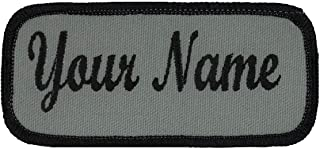 Name patch Uniform or work shirt personalized Identification tape Embroidered Sew On, Hook Fastener or Iron on