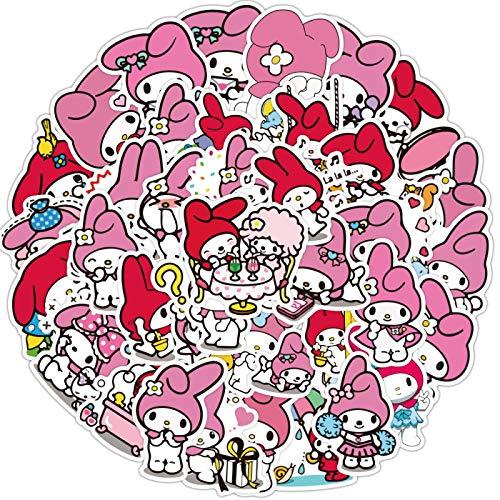 YMSD Melodía pegatina grande melodía rosa teléfono caso epoxi etiqueta impermeable taza agua equipaje etiqueta engomada 50pcs