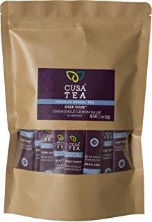 Cusa Tea: Deep Doze Herbal Tea - Chamomile and Lemon Balm Promote Deep Sleep - Caffeine Free - No Sugar or Artificial Flav...