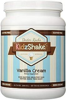 KidzShake - Kids Vanilla Cream Protein Powder | Nutritional Supplement Shake for Kids - Non GMO, Gluten Free, & Complete M...