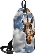Sling Bag Giraffe Sky Mens Chest Shoulder Backpacks Crossbody Hiking Daypack