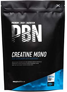 PBN – Premium Body Nutrition Creatine Monohydrat Pulver, 500g-Beutel