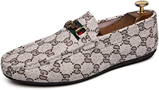 Men's Penny Loafers Moccasin Driving Shoes Crocodile Pettern Slip On Flats Boat Shoes for Casual, Travel