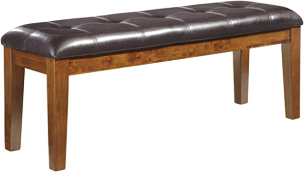 Ashley Furniture Signature Design Ralene Dining Room Bench Rectangular Vintage Casual Medium Brown