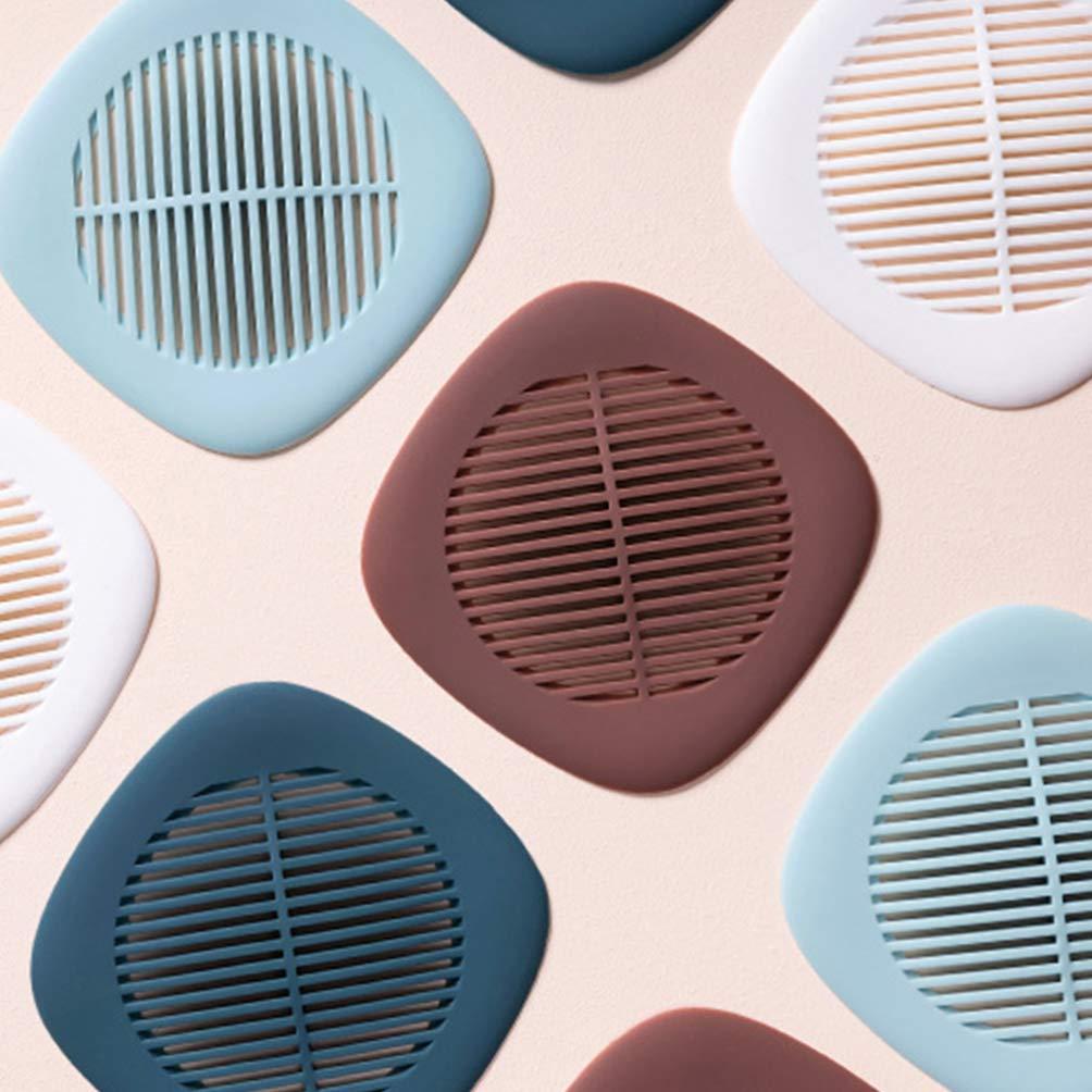 Gris, 14 x 14 cm 3 filtros para Recoger el Pelo para Ducha de Silicona con ventosas para Lavabo ba/ñera y Ducha Filtro de desag/üe para Fregadero DOITOOL