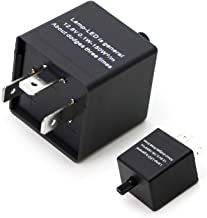 iJDMTOY (1) 3-Pin CF-13 CF13 EP34 Electronic Flasher Relay Fix w/Speed Adjustable Function For LED Turn Signal Light Bulbs Resolve Rapid Quick Flash Issue