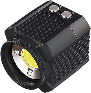 Cobeky Onderwater Camera Flash Draagbare 60M Waterdichte Duiken Vullicht 2000Lm Geschikt Sport Camera Accessoires Zwart