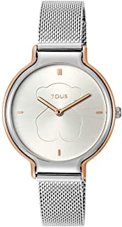 ساعة TOUS كوارتز للنساء بسوار ستانلس ستيل، فضي، 8 (8431242947372)