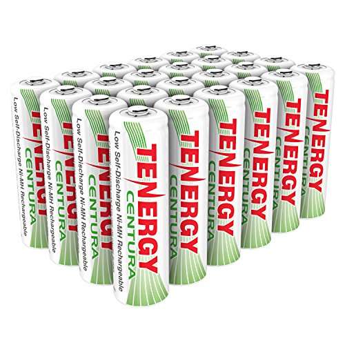 Tenergy Centura AA & AAA Low Self-Discharge LSD NiMH Rechargeable Batteries (AA, 24 pcs)